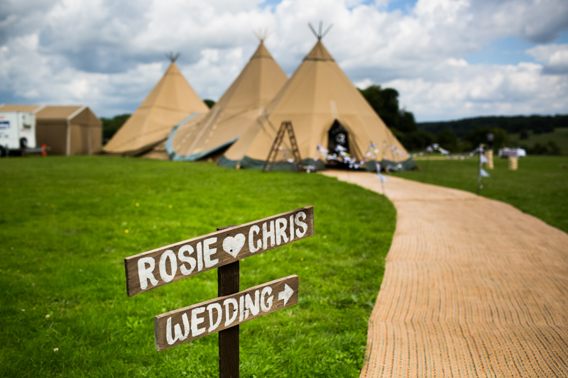 Wedding tepees North Hill Farm Chorleywood