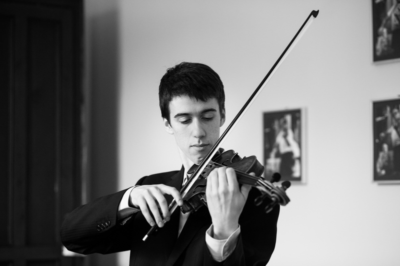 Man playing violin.