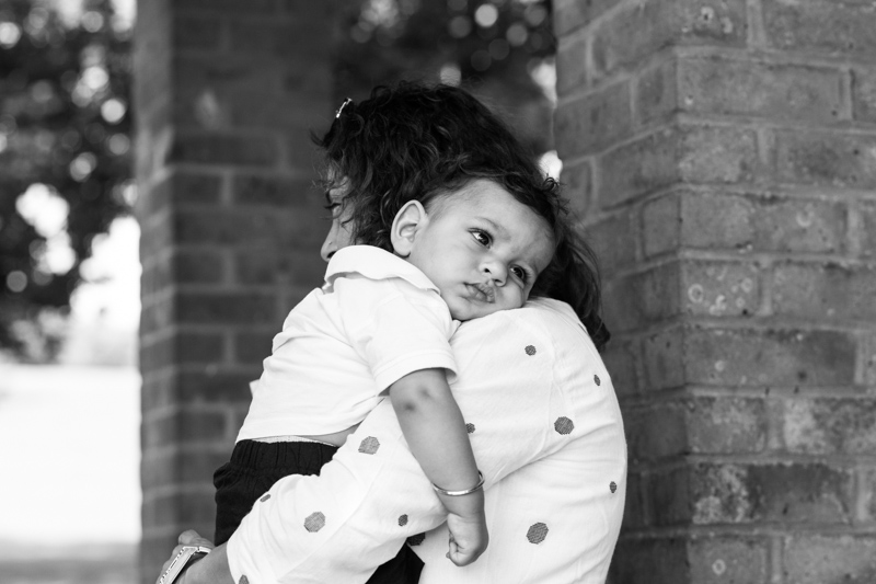 Mum cuddling her baby boy.