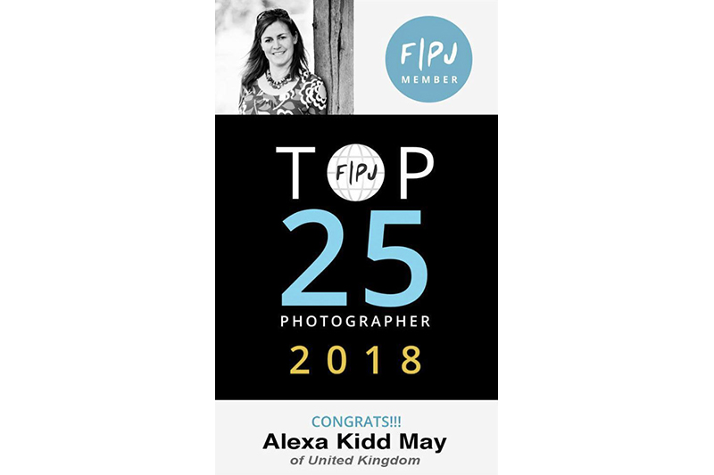 Award for top documentary family photographer in the world