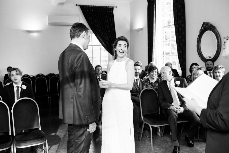 natural wedding photography of a bride and groom