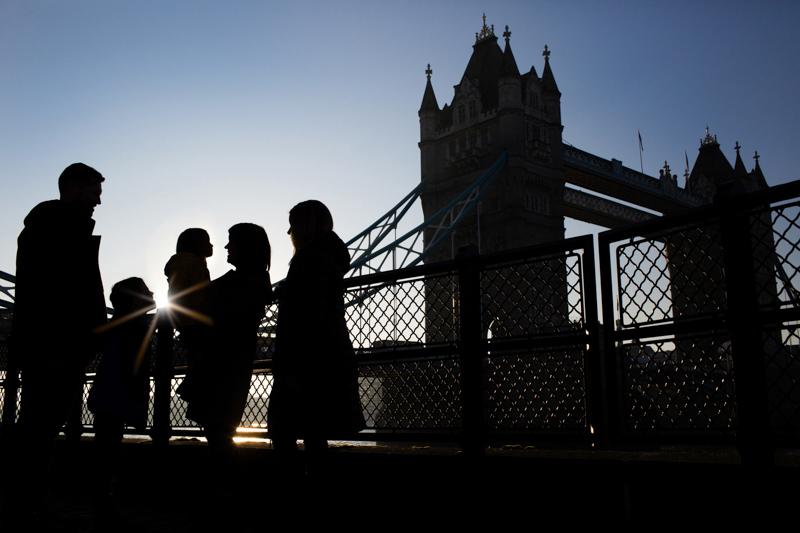 Tower Bridge family portrait