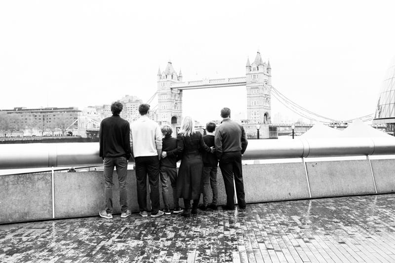 Tower Bridge vacation portrait